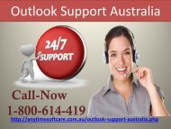 Outlook Support Australia 1-800-614-419 |Swift Service