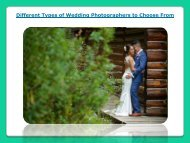Wedding Photographers to Choose From