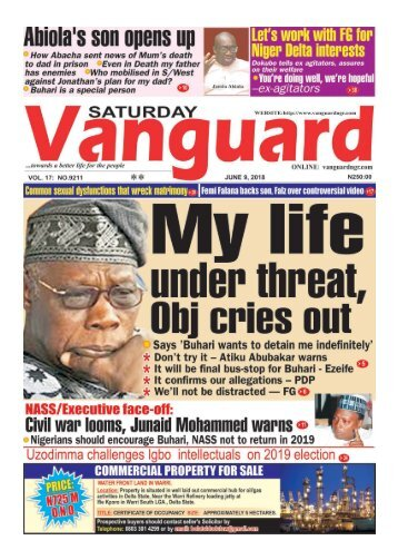 09062018 - My life under threat Obj cries