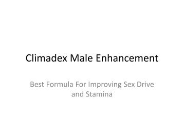 Climadex Male Enhancement : It will increase blood circulation