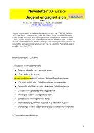 Newsletter 03- Juli/2006 Jugend engagiert sich - IPP München