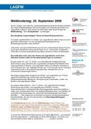 Weltkindertag: 20. September 2009 - LAGFW Bayern