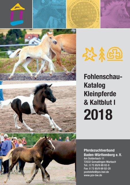 Fohlenschaukatalog 2018 - Kleinpferde 1