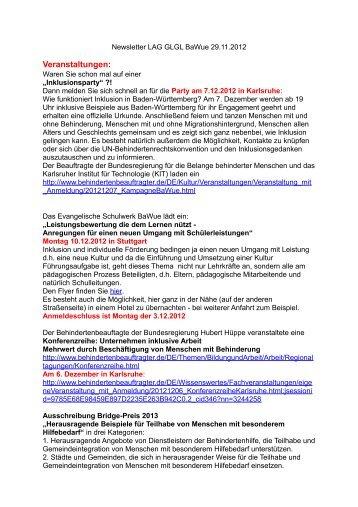Newsletter 29.11.2012 - Arbeitsgemeinschaft Integration Heidenheim