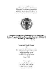Soziodemographische Bedingungen im Freiburger - FreiDok - Albert ...