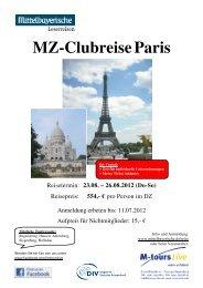 08 23 Reiseprogramm Paris - Mittelbayerische Zeitung