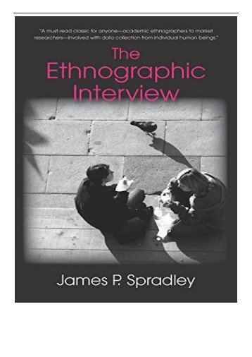 PDF Download The Ethnographic Interview Free online