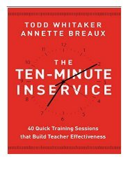 PDF Download The Ten-minute Inservice 40 Quick Training Sessions That Build Teacher Effectiveness Free