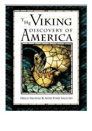 PDF Download The Viking Discovery of America The Excavation of a Norse Settlement in L'Anse Aux Meadows