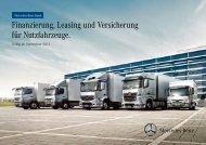 Finanzierung, Leasing und Versicherung für Nutzfahrzeuge.