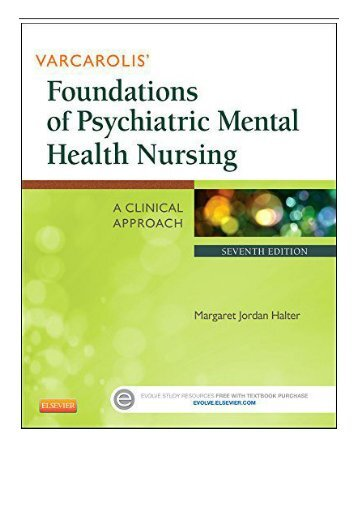 PDF Download Varcarolis' Foundations of Psychiatric Mental Health Nursing A Clinical Approach 7e Free