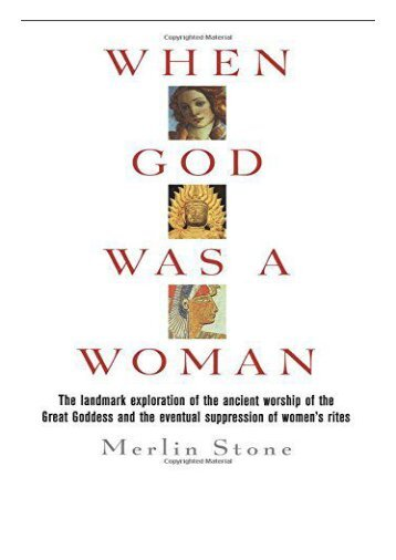 PDF Download When God Was a Woman Harvest HBJ Book Free books