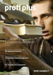 Wir wollen Sie fundamental verstehen - bankzweiplus.ch