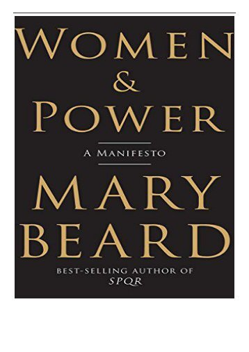 PDF Download Women  Power A Manifesto Free online