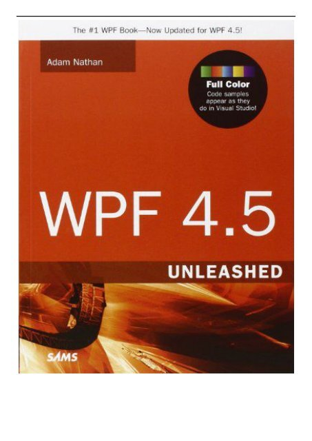 Wpf Unleashed Pdf