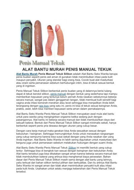 ALAT BANTU MURAH PENIS MANUAL TEKUK
