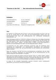 """Summer in the City"" - Das internationale Sommerfest ... - AG City"