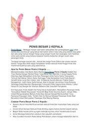 PENIS BESAR 2 KEPALA
