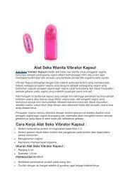 Alat Seks Wanita Vibrator Kapsul