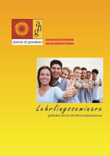 Lehrlingsseminare - adg-wien Akademie der Generationen