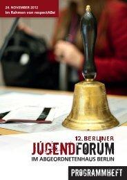 PROGRAMMHEFT - Berliner jugendForum