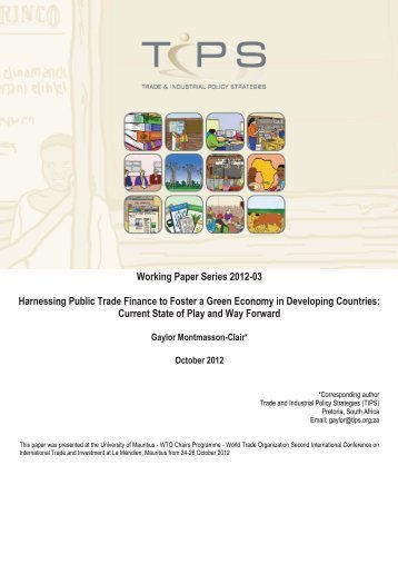 Working Paper Series 2012-03 Harnessing Public Trade ... - tips