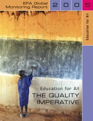 Education for all: the quality imperative; EFA ... - unesdoc - Unesco