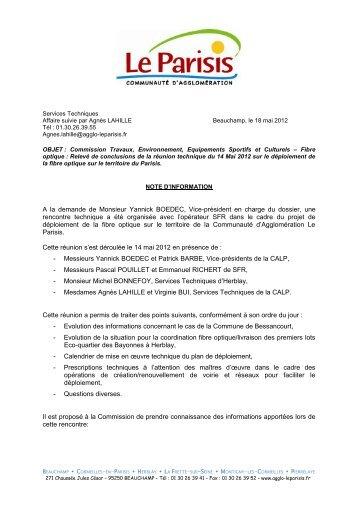 Service Economie Emploi - Communauté d'agglomération Le Parisis