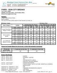 PARIS - 3D2N CITY BREAKS - Travel