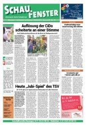 SCHAUFENSTER Ausgabe zum Sonntag, den 10.Juni 2018