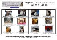 Adoptions - L'Ecole du Chat Libre du Parisis - Free