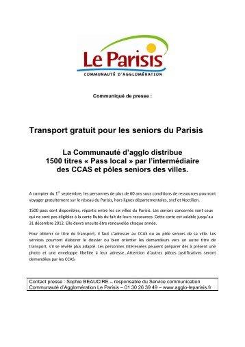 Pass local - Communauté d'agglomération Le Parisis
