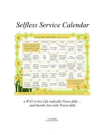 Selfless Service Calendar (3rd edition)