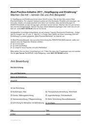 Best-Practice-Initiative 2011 - in der Paritätischen Akademie