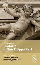 Scarica il programma degli eventi - Oratorio di San Filippo Neri