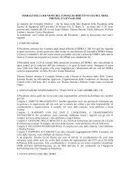 VERBALE DELLA RIUNIONE DEL CONSIGLIO DIRETTIVO (CD ...