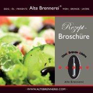 Rezept Broschüre (Download PDF) - Alte Brennerei