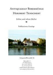 Schöne und seltene Bücher - Antiquariat Bibermuehle / Heribert ...