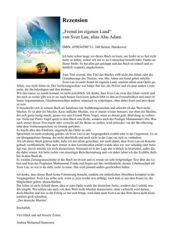 """Rezension """"Fremd im eigenen Land"""" von Abu Adam, alias Sven Lau"""