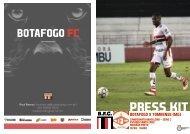PRESS KIT: Botafogo x Tombense (MG) - Série C - 10/06/2018