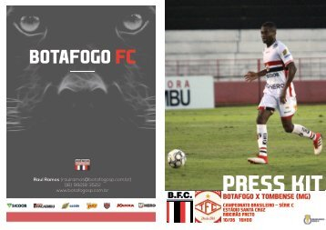 PRESS KIT: Botafogo x Tombense (MG) - Série C - 10/06/2018