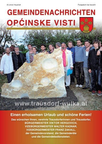 Gemeindenachrichten Sommer 2012 - in Trausdorf an der Wulka