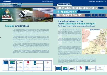 internalisation of external costs in the pricing of the transport modes