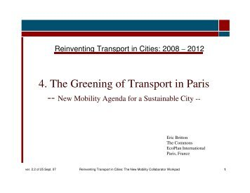 4. The Greening of Transport in Paris - The Commons