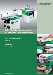 Holzbearbeitungsmaschinen für den Heim- und Handwerker - Aircraft