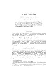 ON HEINZ'S INEQUALITY Introduction Write Hom+(T) for the class of ...