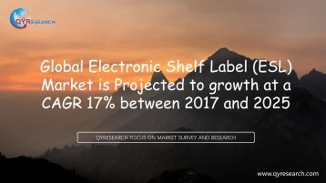 Global Electronic Shelf Label (ESL) Market is Projected to growth at a CAGR 17