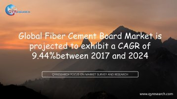 Global Fiber Cement Board Market is projected to exhibit a CAGR of 9.44