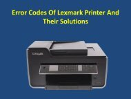 Error Codes Of Lexmark Printer And Their Solutions