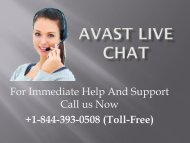 Avast Live Chat +1-844-393-0508
